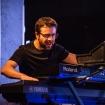 Fabrizio Allegrini pianista e tastierista degli Indiana Supermarket al Progressivamente Free Festival 2018 a Roma.